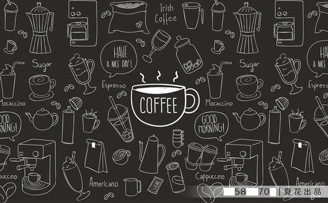 Buy diy 3d retro personality large mural for Mural coffee