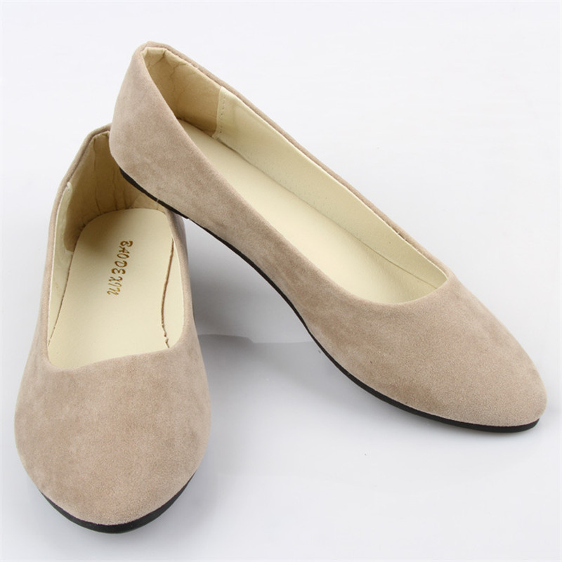 Tamaño GRANDE  la primavera y el otoño de la manera señaló zapatos de las mujere