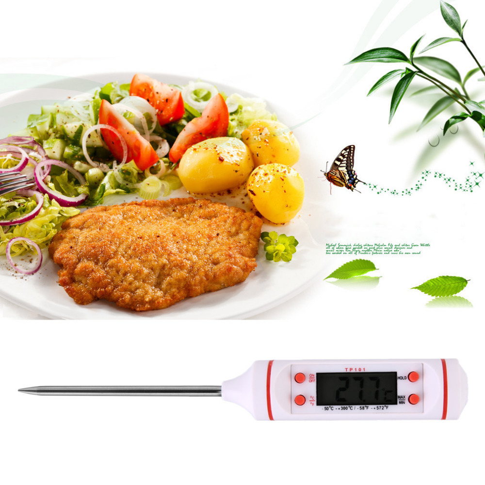 2016 Useful Needle Electronic Food Thermometer Barbecue Thermometers Measure Milk Temperature Baking Kitchen Tool Waterproof