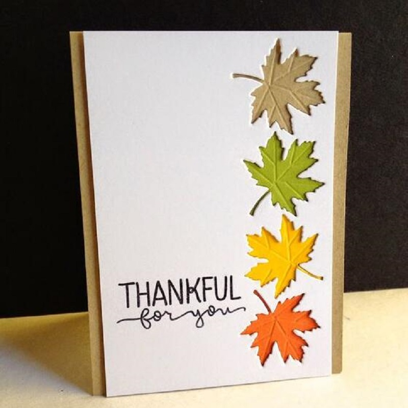 YaMinSanNiO 3Pcs/set Maple Leaf Metal Cutting Dies Stencils for DIY Scrapbooking Photo Album Decorative Crafts