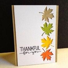 купить YaMinSanNiO 3Pcs/set Maple Leaf Metal Cutting Dies Stencils for DIY Scrapbooking Photo Album Decorative Crafts дешево