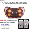 Home Car Two Use Vibrating Infrared Heating Massage Pillow Neck Cervical Traction Pain Relief Relax Massage Cushion Seat Cover