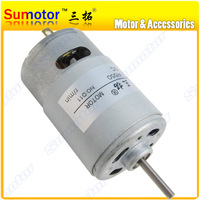 10000rpm DC 12V 15W 3N Cm R550 2A High Speed Miniature Electric Toys Motor Long Output