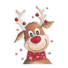 ملصق على الملابس بقع الحرارية الحديد على نقل للملابس فتاة تي شيرت الغزلان عيد الميلاد