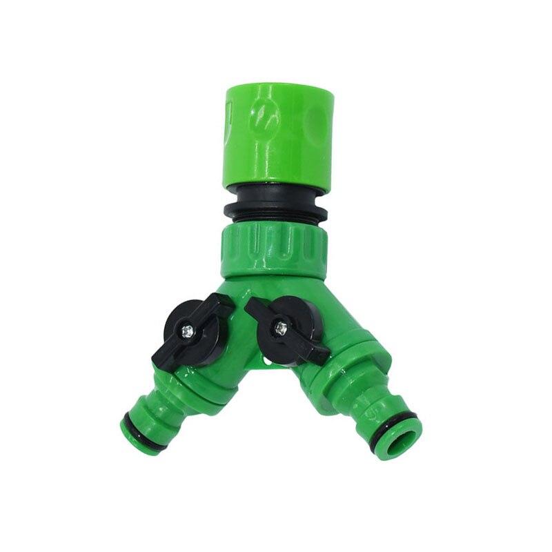 Irrigation 2 way tap garden tap Irrigation valve Hose Pipe Splitter 2 Way Quick connector adapter 1pcs
