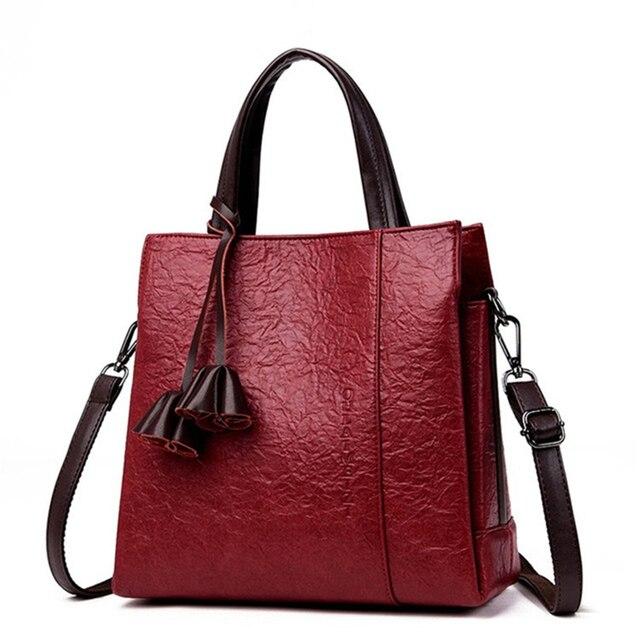 7317373653a Luxury Handbags Women Bags Designer Bark pattern Leather handbags Women  Shoulder Bag Female crossbody messenger bag sac a main-in Top-Handle Bags  from ...