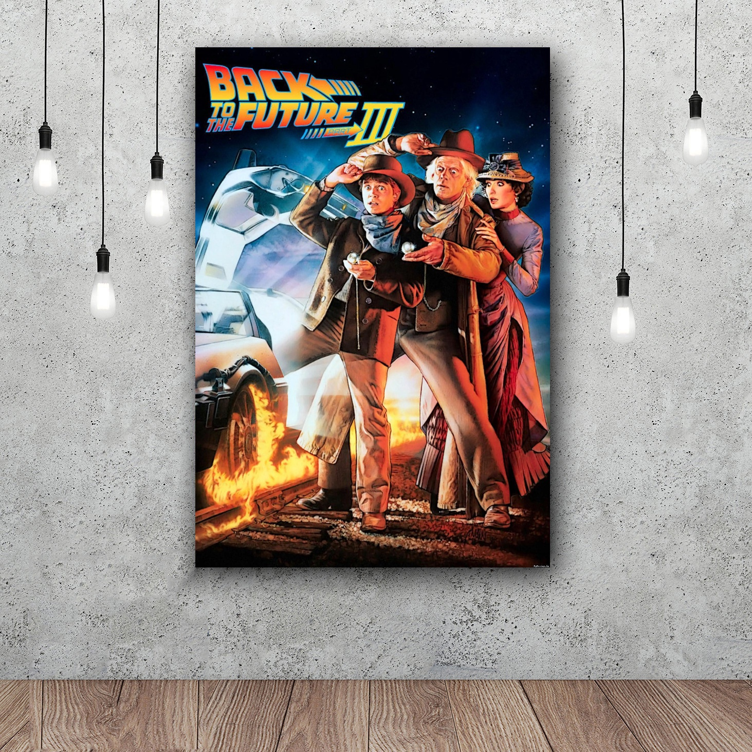 Back To The Future Art Silk Poster Home Decor 12x18 24x36inch