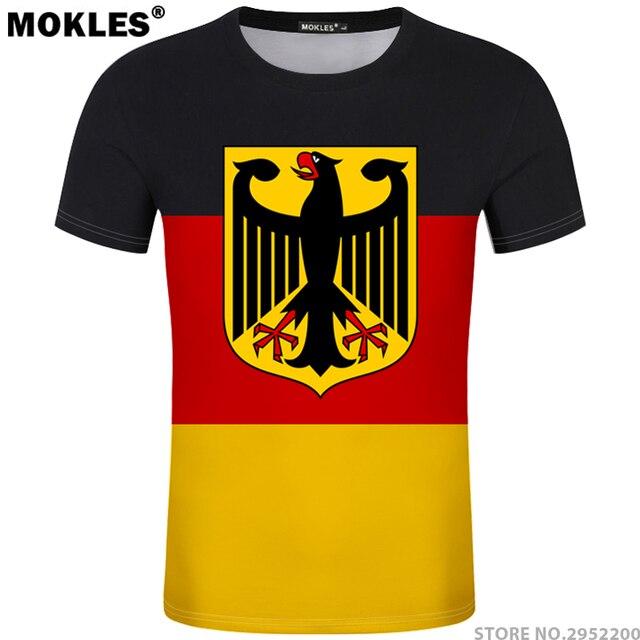 ALEMANHA camiseta livre número nome personalizado diy t-shirt da bandeira  da nação de país 87c4012e1e121