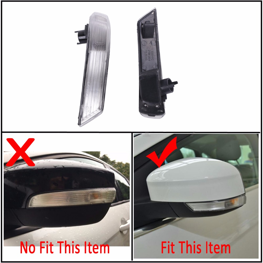 Wing Rearview Mirror Side Mirror Lamp Indicator Turn Signal Lights Cover Lens For Ford Focus II III HATCHBACK SALOON C/5
