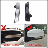 Wing Rearview Mirror Side Mirror Lamp Indicator Turn Signal Lights Cover Lens For Ford Focus