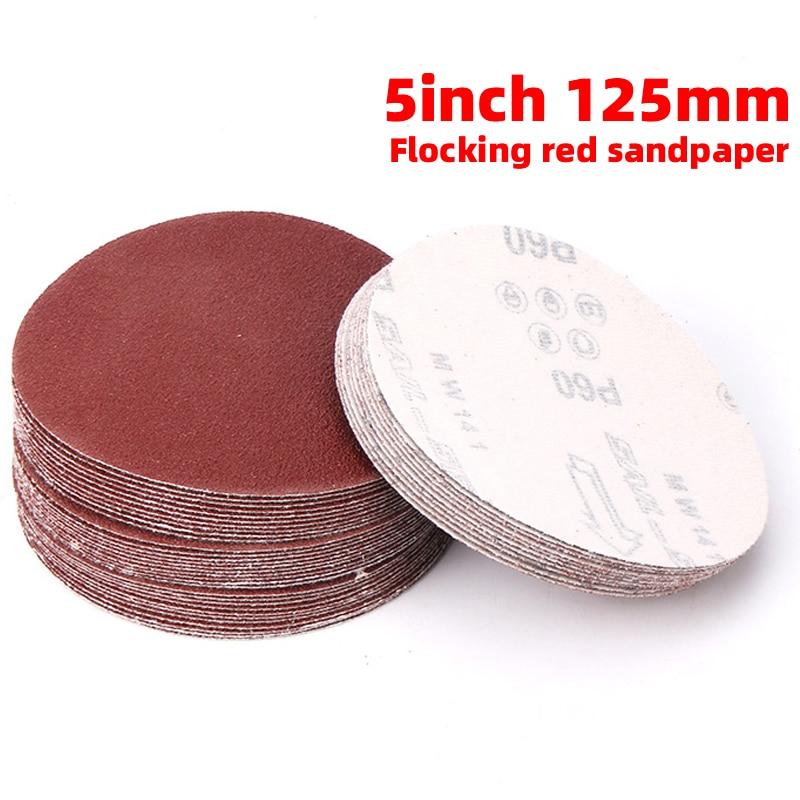 1Pcs 5 Inch 125MM Round Sandpaper Disk Sand Sheets Grit 40-2000 For Choose Hook And Loop Sanding Disc Sander Grits Dry Grinding