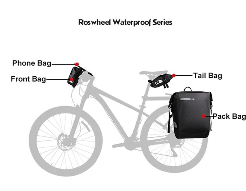 Cycling Bicycle Insulated Front Bag MTB Bike Handlebar Bag Basket Pannier L2H2