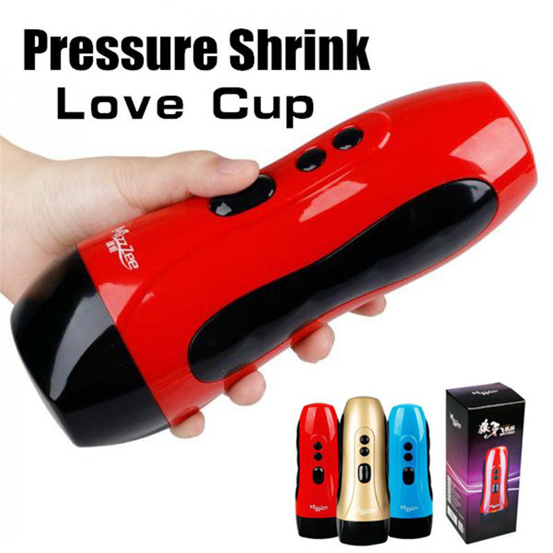 Adult Sex Toys For Men 10 Speed Vibration Sex Cup Pressure Shrink Masturbators Adult Sex Products Realistic Vagina sex products male masturbators realistic vagina thrusting piston aircraft cup usb charging man sex toys adult sex toys for men