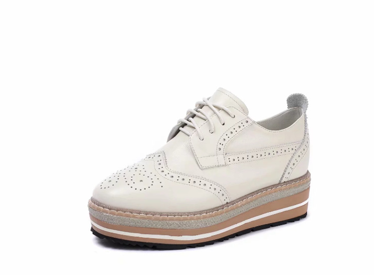 Thick Bottom Casual Comfort Korean Women's Single Shoes Fashion England With The First Layer Of Leather Women's Flat Shoes the first layer of leather shoes and a pedal comfort all match full leather comfortable foot leather bottomed women shoes
