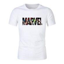 New Fashion Marvel Short Sleeve T-shirt Men Superhero print Cotton t shirt O-neck comic shirts tops men clothes Tee