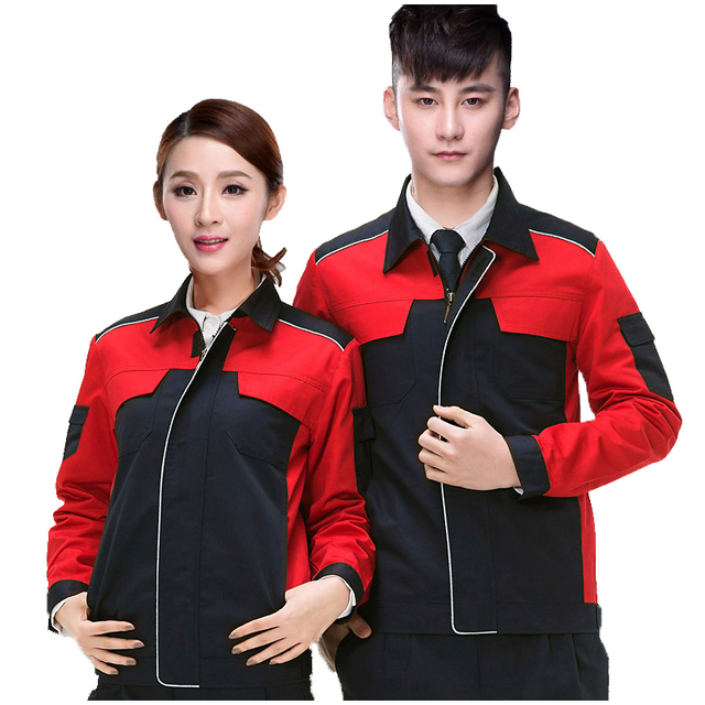 wor kclothes men woman workwear zipper fashion stitching hit the color processing and maintenance wear-resistant suit overalls