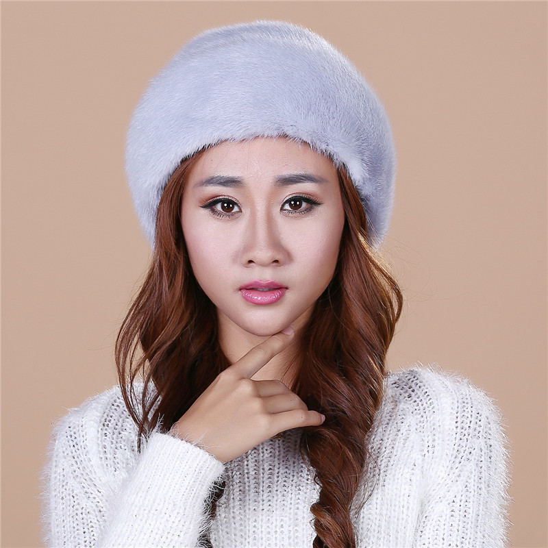 Hot selling Lady's the new mink fur mink hat knit cap children winter thickening warm winter hat free shipping/4color.#SD22