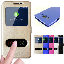 For Samsung J7 2016 Case Quick View Window Leather Flip Stand Coque for Samsung Galaxy J7 2016 Cover SM-J710FN Phone Cases Funda