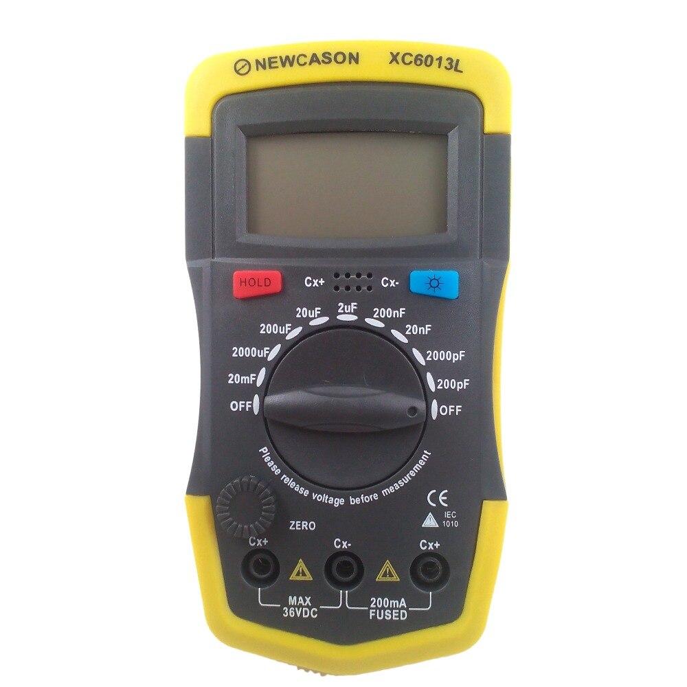 Digtital capacitância medidor xc6013l capacitor tester mf uf medidor de circuito capacitância tester