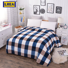 Brand super discount new 4 SIZES soft coral fleece flannel fabric blanket for plaid sofa  throw bedspread cover LREA