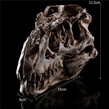 Resin Crafts Dinosaur Tooth Skull Fossil Teaching Skeleton Model Halloween Home Office Halloween Decoration(China)