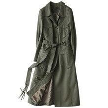Autumn Winter Coat Women Clothes 2018 Real Genuine Leather Jacket Women Sheepskin Coat Korean Long Trench Coats Plus Size ZT836