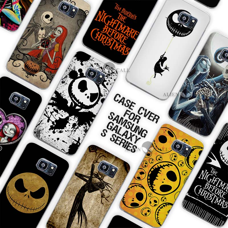 Hot Sale Jack Skellington The Nightmare Before Christmas Clear Case Cover Coque Shell for Samsung Galaxy S3 S4 S5 Mini S6 S7 Edg