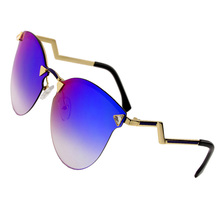 2015 New Fashion Women GOggle Sunglasses  Rimless alloy Frame Aviator Polarized