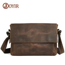 Joyir fashion casual male real leather crossbody bags for men genuine leather bag shoulder messenger  retro bags for man B96