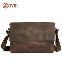 Joyir fashion casual male real leather crossbody bags for men genuine leather bag shoulder messenger  retro bags for man B96
