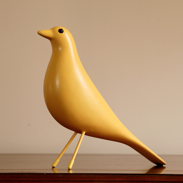 Colorful Minimalism Bird Figurine