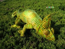 new plush chameleon toy simulation creative yellow chameleon doll gift about 70cm