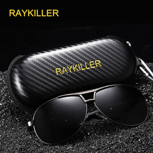 RAYKILLER Frog Mirror Men Polarized UV Protection Sun Glasses fashion High Quality Brand Designer Driving Eyewear Pilot RK193 стоимость