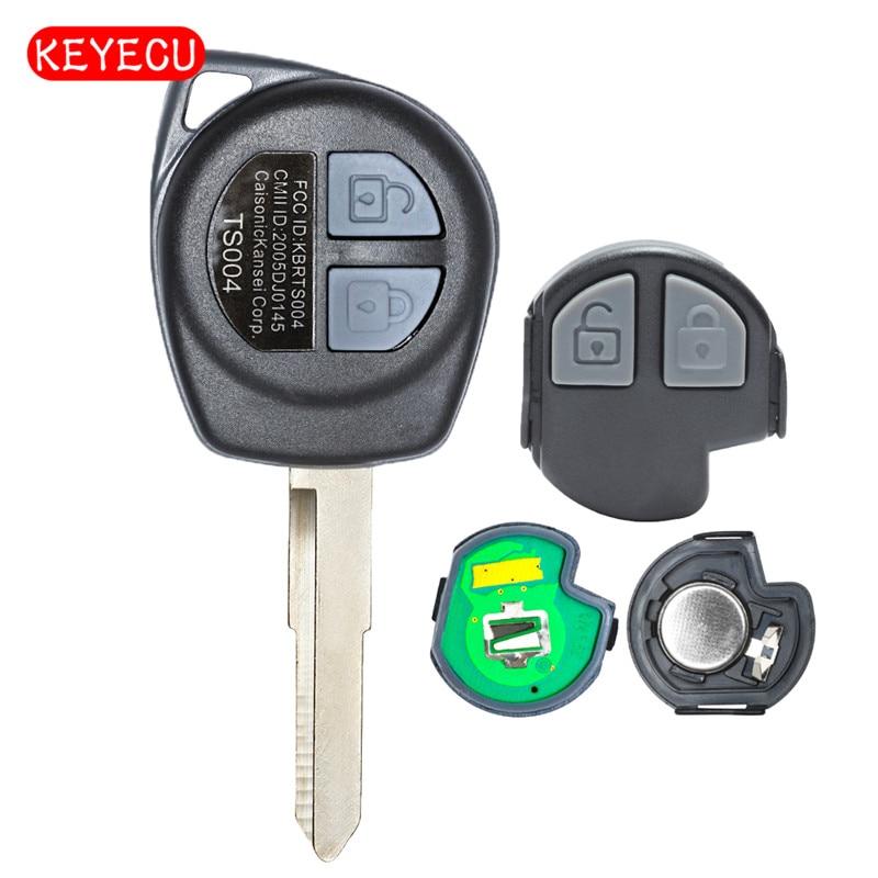 Keyecu Remote Key 2 Button 315MHz/433MHz ID46 Chip for Suzuki Swift 2005-2010
