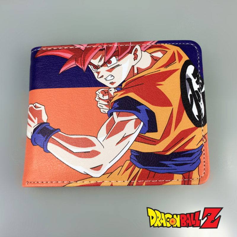 2016 Short Wallets Cartoon DragonBall Super saiyan cool wallet Kakarotto Monkey King Anime Fans Purse Collection 2016 new arriving pu leather short wallet the price is right and grand theft auto new fashion anime cartoon purse cool billfold