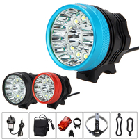 Tactical Rechargeable 20000 Lm 13x XML T6 LED 3 Modes Bicycle Lamp Bike Light Headlight Cycling