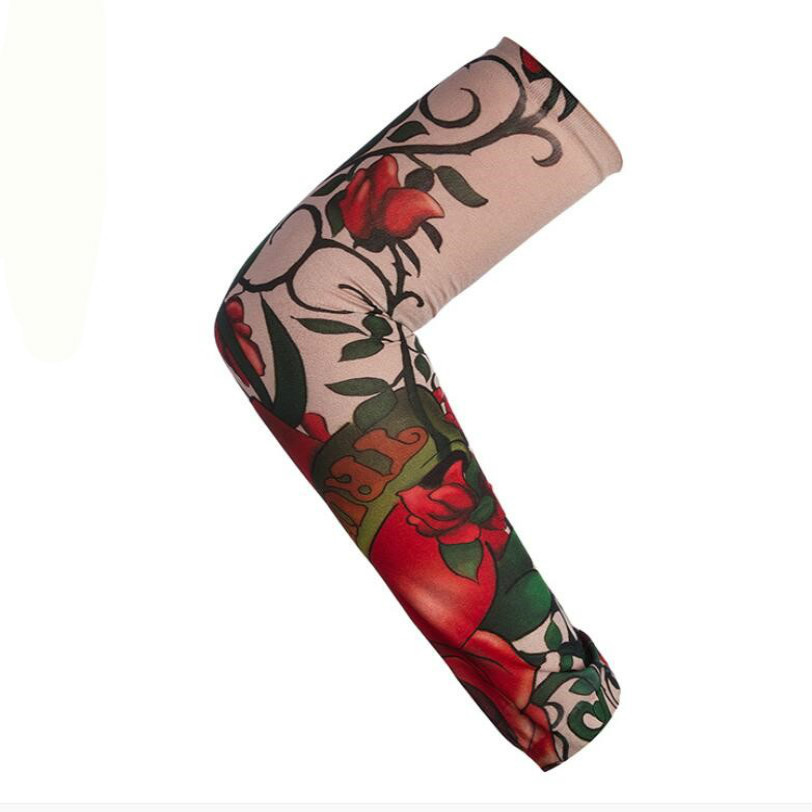 2020New Arm Sleeves Sunscreen Elastic Nylon Tattoo Sleeve 1 PcsCool Riding UV Care Stretchy Breathable  Women  Men Arm Stockings
