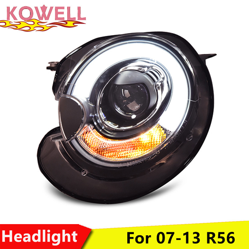 KOWELL Car Styling Car Styling For BMW mini R56 headlights 2007 2013 For R56 head lamp