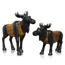 1Set Europe Style Lucky Deers Figurines Miniatures Creative Lucky Deers Home Desktop Decoration Wedding Accessories Resin Crafts цены