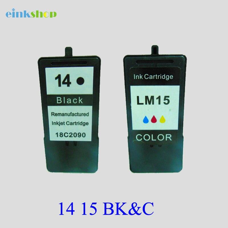 1 set Noir et Couleur Pour Lexmark 14 15 Cartouches D'encre pour lexmark14 15 Pour Lexmark Z2300 Z2320 X2650 X2600 X2670 Imprimante d'encre