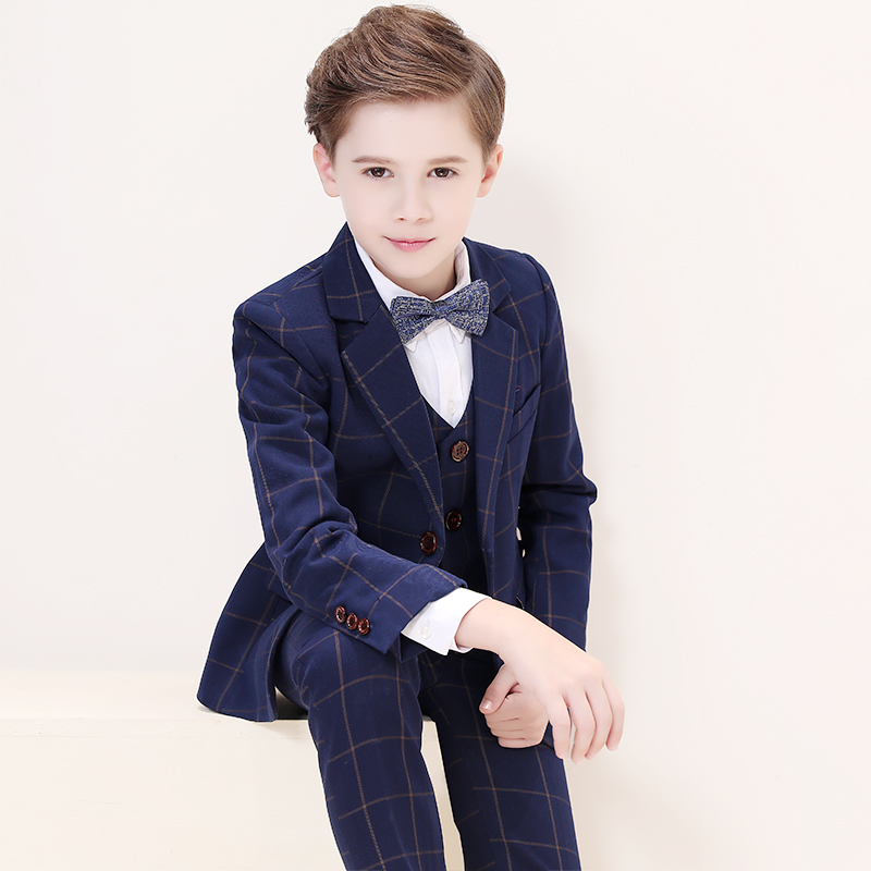 Childrens suits boys small suits boys tuxedo dress kids formal suits coat handsome British wind suit dress party dressChildrens suits boys small suits boys tuxedo dress kids formal suits coat handsome British wind suit dress party dress