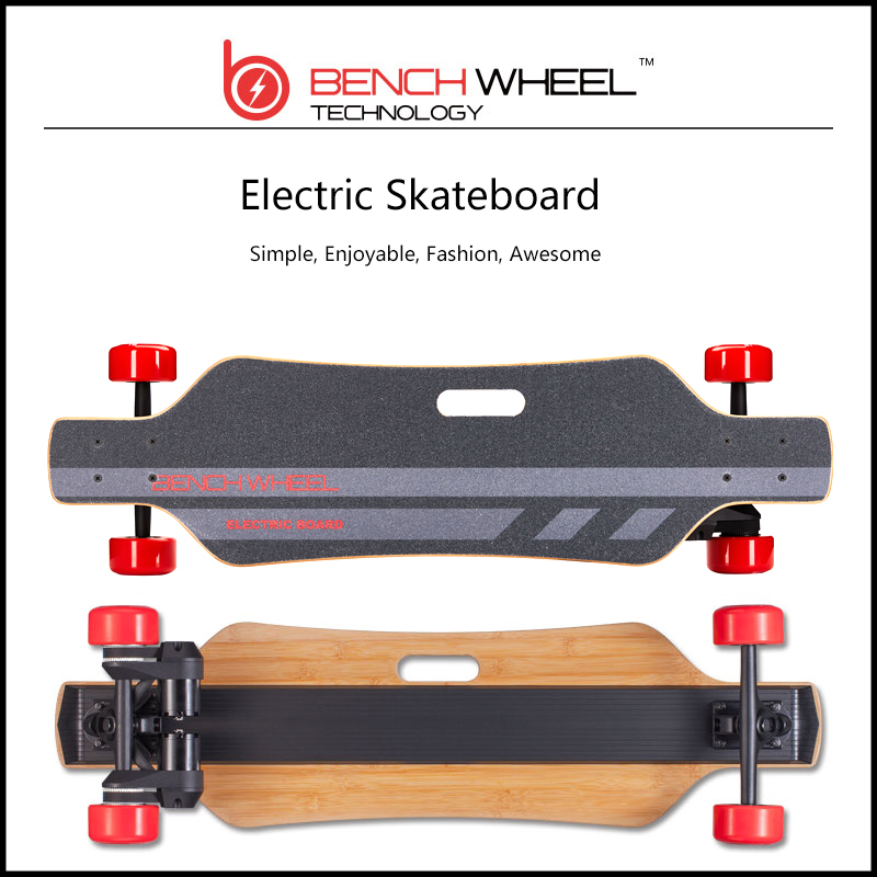 BENCHWHEEL electric skateboard environment and green hover board wireless single-motor drive sino-wave controlled longboard hot backfire benchwheel electric skateboard motor with 1000w electric motor penny board scooter skateboard cyber monday