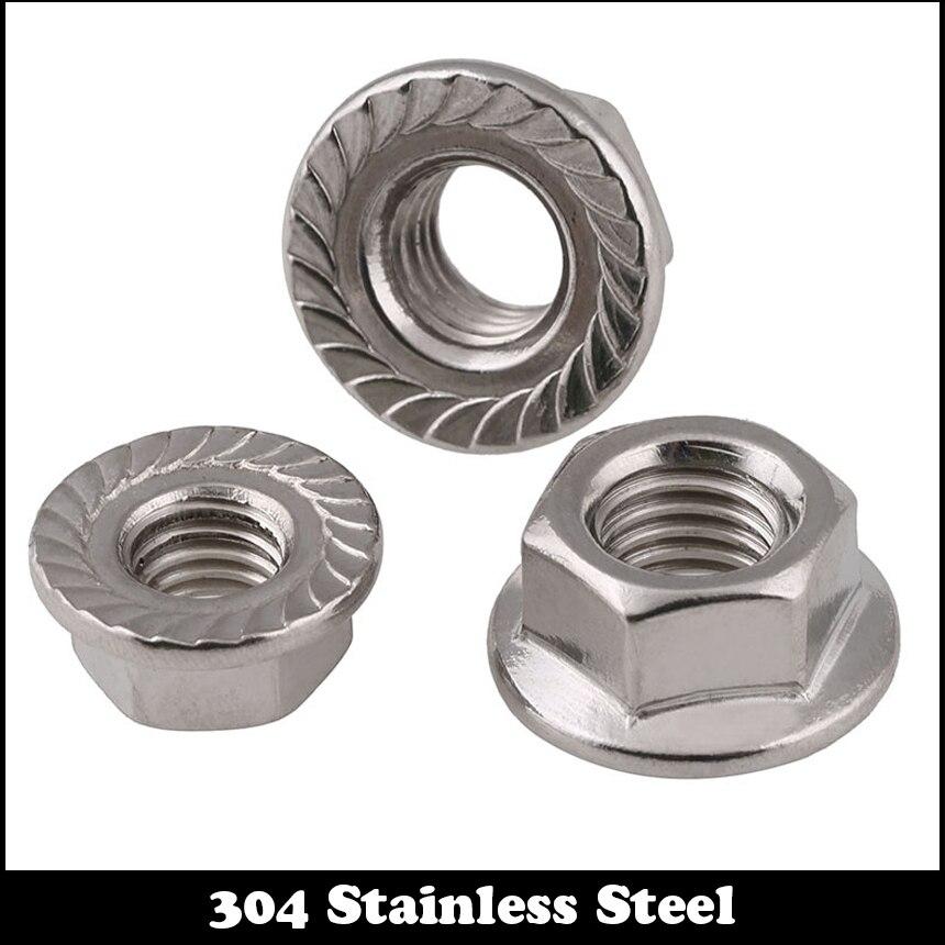 DIN 6923 RoHS CR+3 M8-1.25 // 8mm Zinc Hex Flange Nuts Metric Class 8 25