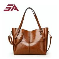 Iuxury Handbags Women Bags Designer box Shoulder Bag oil Leather Handbags Vintage Fashion large casual tote travel shipping bag