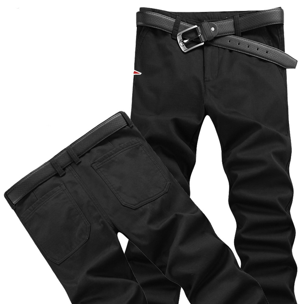 Fitted smart cropped high quality men\'s pants four...