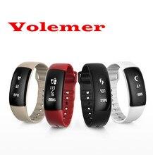 Новинка 2017 года volemer S69 Приборы для измерения артериального давления Смарт-часы браслет сердечного ритма Мониторы Водонепроницаемый Фитнес трекер smartband для IOS Android