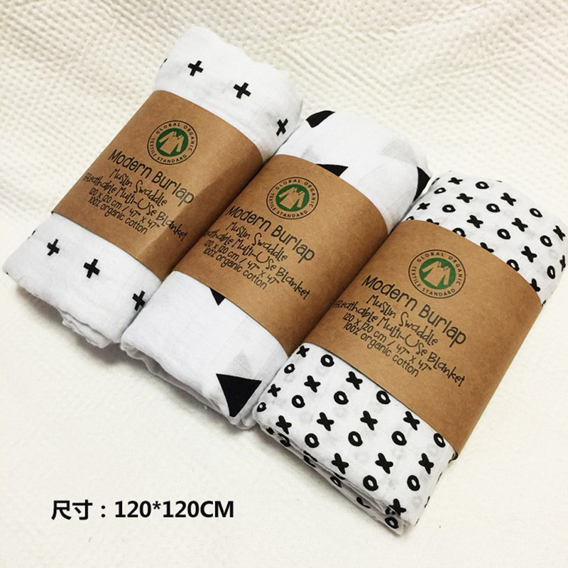 Baby Blanket Wrapper Ins New Bamboo Fiber Gauze Infants Held by ...