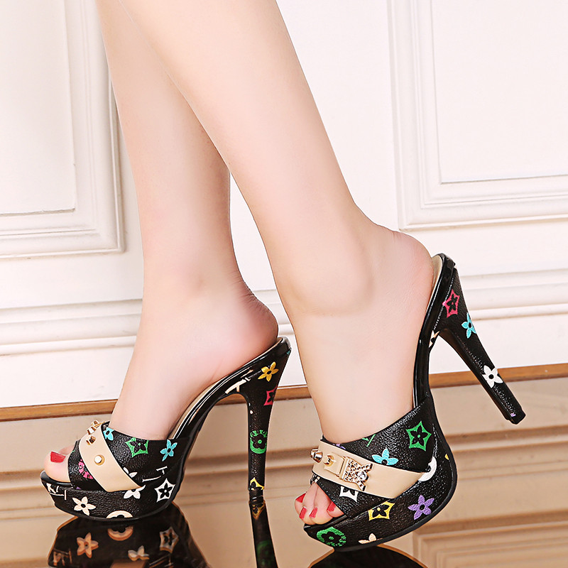 PHYANIC 2018 New Fashion Peep Toe Women Shoes Platform Mules Pumps Extreme High Heels Party Sexy Shoes big Size 33-43 annymoli women pumps high heels platform open toe bow women party shoes peep toe high heels luxury women shoes size 43 33 spring