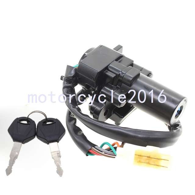 Motorcycle  Ignition Switch Lock + Keys New For KAWASAKI EX250 NINJA 250R 2008-2012 NINJA 300 2013-2015