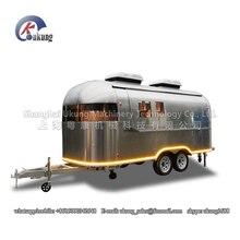 UKUNG бренд AST-210 модель индивидуальные нержавеющая сталь улица еда киоск